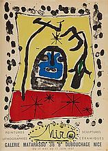 JOAN MIRO (1893-1983)   EXPOSITION A LA GALERIE MATARASSO, NICE, 1957