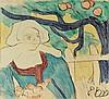 EMILE BERNARD (1968-1941)   LA CUEILLETTE DES POMMES, 1889, Emile Bernard, €3,700
