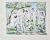 PAUL CEZANNE (1839-1906)    LES BAIGNEURS, PETITE PLANCHE, 1896-1897, Paul Cezanne, €5,500