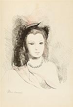MARIE LAURENCIN (1885-1956)   JEUNE FEMME AUX PERLES, 1956