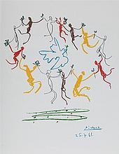 D'APRES PABLO PICASSO (1881-1973)   LA RONDE DE L'amitie, 27 JUILLET 1961