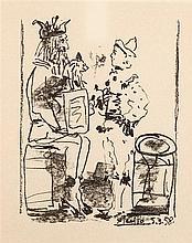 PABLO PICASSO (1881-1973)   LES SALTIMBANQUES, 1958