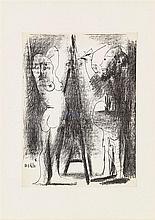 PABLO PICASSO (1881-1973)   LE PEINTRE ET SON MODELE II, 1964