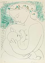 D'APRES PABLO PICASSO (1881-1973)   GRANDE MATERNITE, 29 AVRIL 1963