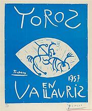 PABLO PICASSO (1881-1973)   TOROS EN VALLAURIS, 1957