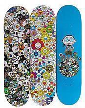 TAKASHI MURAKAMI (NE EN 1962)   SKATEBOARD DECKS (SET OF 3), 2015