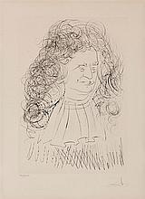 SALVADOR DALI (1904-1989)    PORTRAIT DE LAFONTAINE, 1974