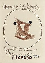PABLO PICASSO (1881-1973)   MAISON DE LA PENSEE FRANCAISE, EXPOSITION DE CERAMIQUE, 1958
