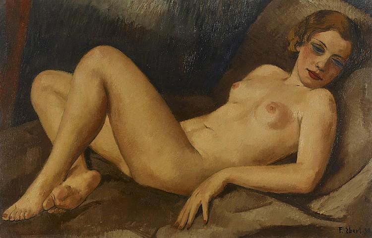 FRANTISEK-ZDENEK EBERL (1887-1962) - NU DE FACE, 1930