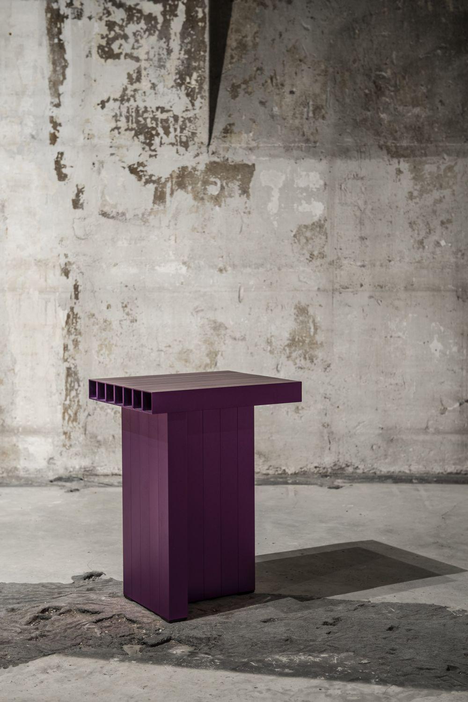 SEUNGHAN BAEK Aluminium anodisé violet