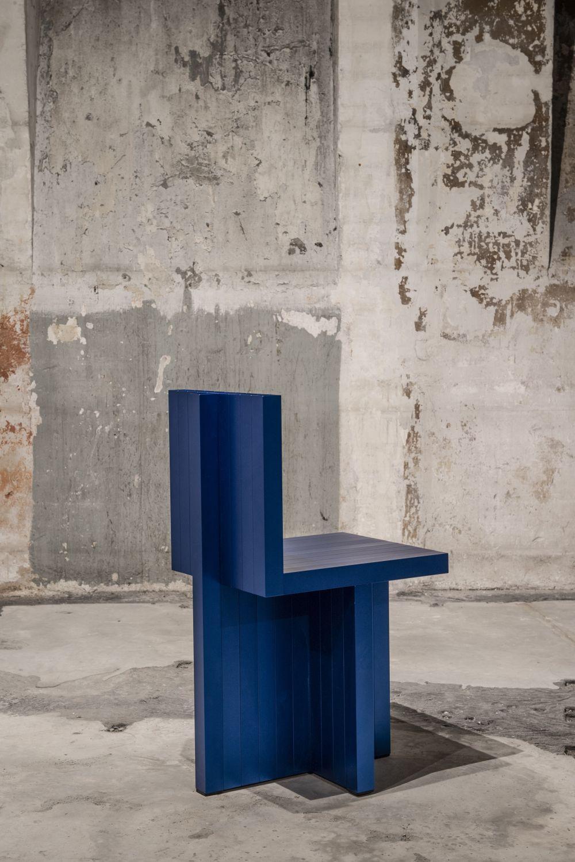SEUNGHAN BAEK Aluminium anodisé bleu