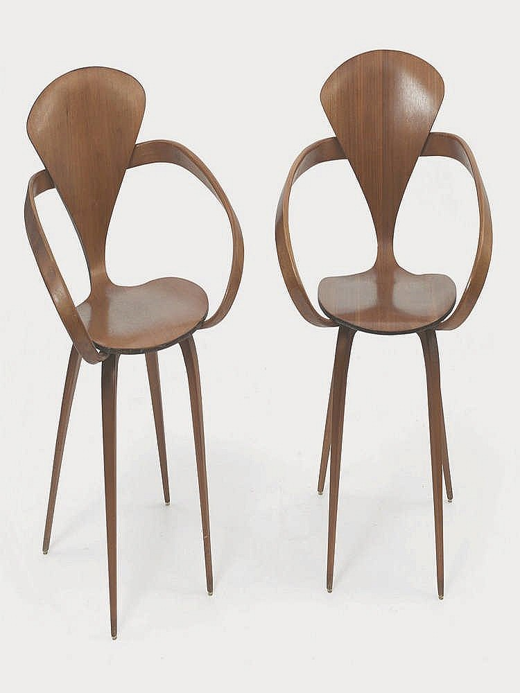 norman cherner 1920 1987 paire de fauteuils. Black Bedroom Furniture Sets. Home Design Ideas