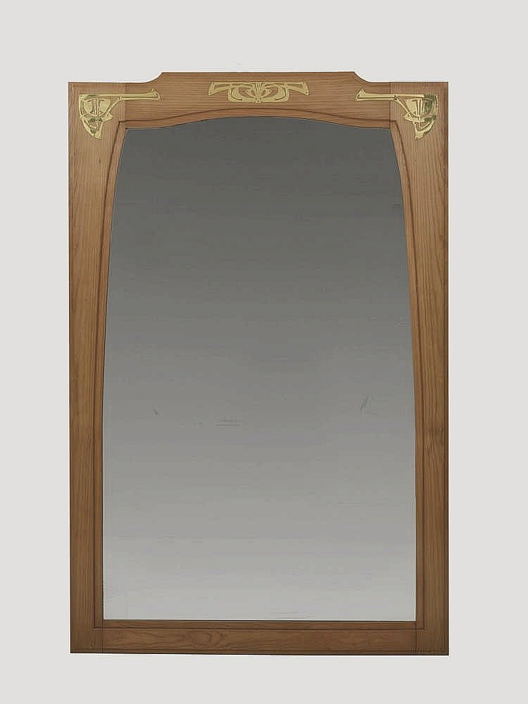 Travail art nouveau grand miroir for Grand miroir antique