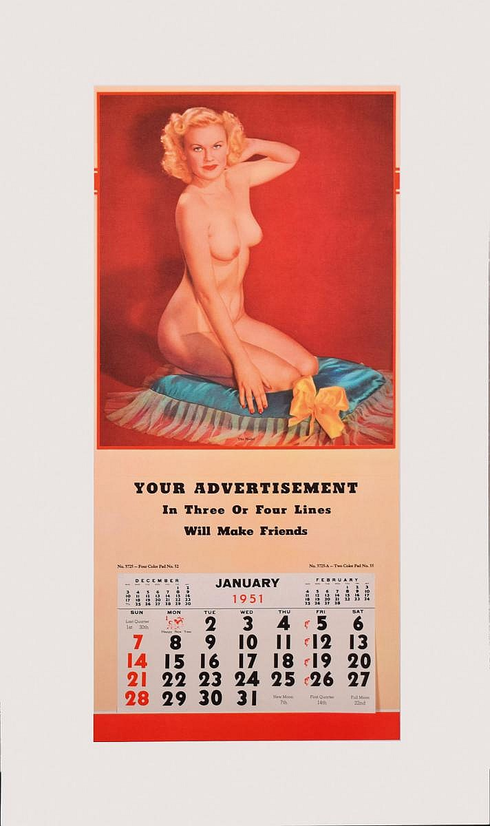 Calendrier Pin Up.Calendrier Pin Up 1951 The Model