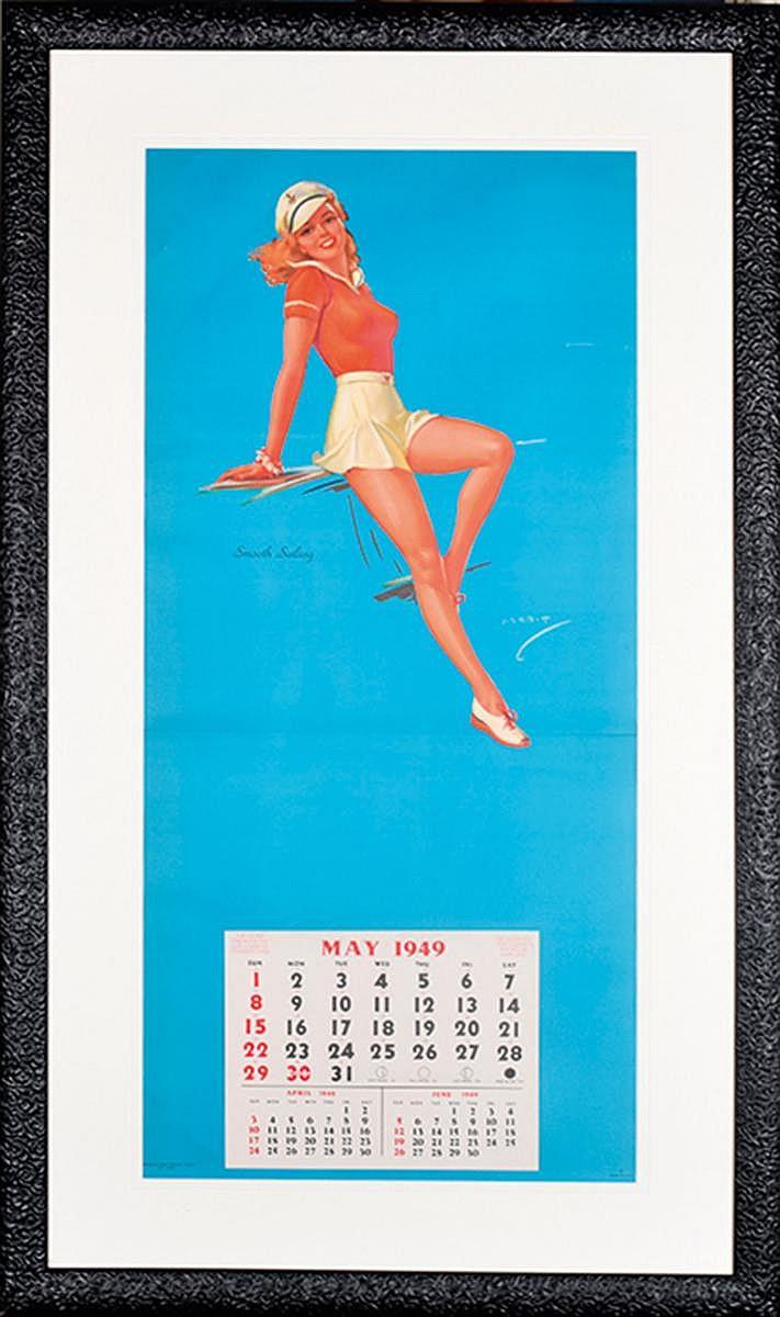 Calendrier Pin Up.Calendrier Pin Up 1949 Smooth Sailing