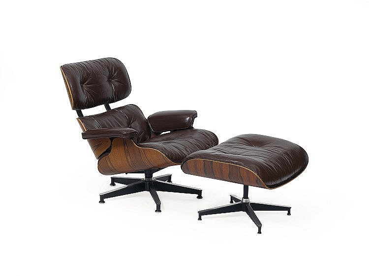 charles et ray eames fauteuil lounge chair fau. Black Bedroom Furniture Sets. Home Design Ideas