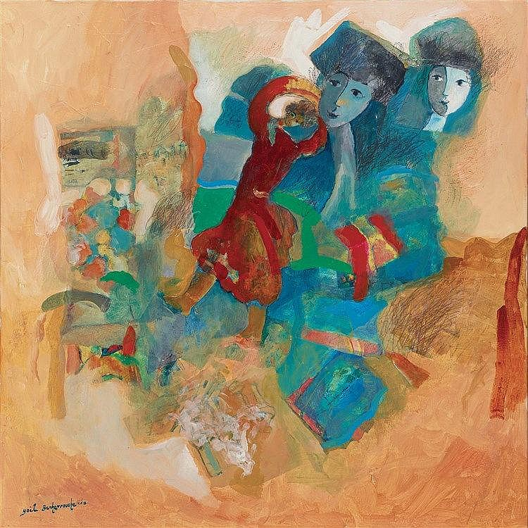 YOEL BENHARROUCHE (NE EN 1961) SOUVENIR D'UNE DANSE QUI COMMENCE UN JO