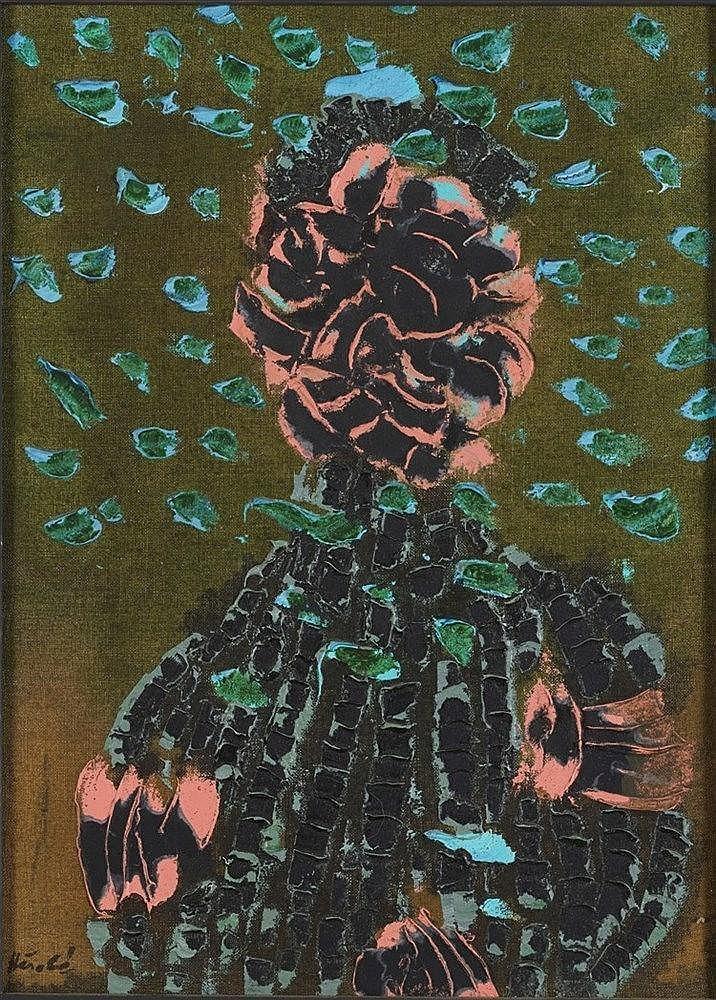 JACQUES HEROLD (1910-1987)  MIGRATION, 1965  Huile et détrempe sur toi