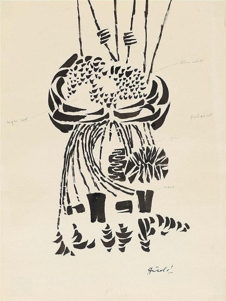 JACQUES HEROLD (1910-1987)  PORTRAIT D'ANDRE BRETON, CIRCA 1971  Proba