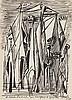 ROGER BRIELLE (1899-1960)  COMPOSITION AUX PERSONNAGES, 1947  Encre de, Roger Brielle, €300