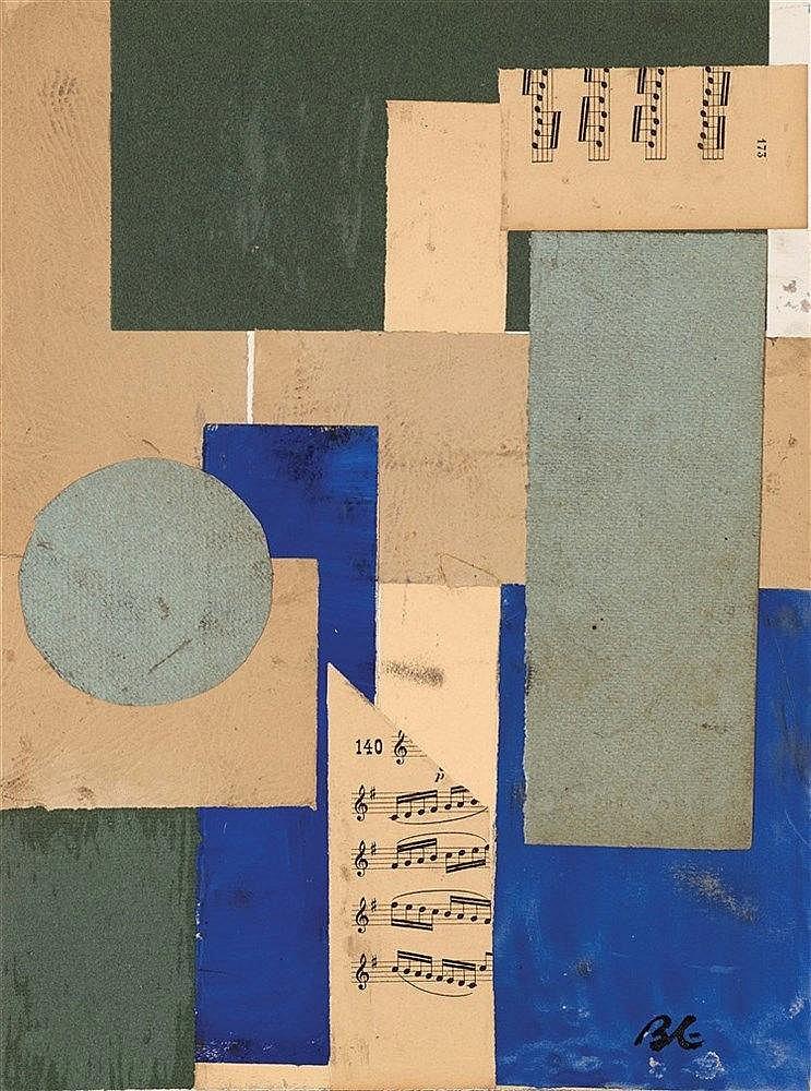 BORIS LACROIX (1902-1984) LA PARTITION DE MUSIQUE  Collage de morceaux
