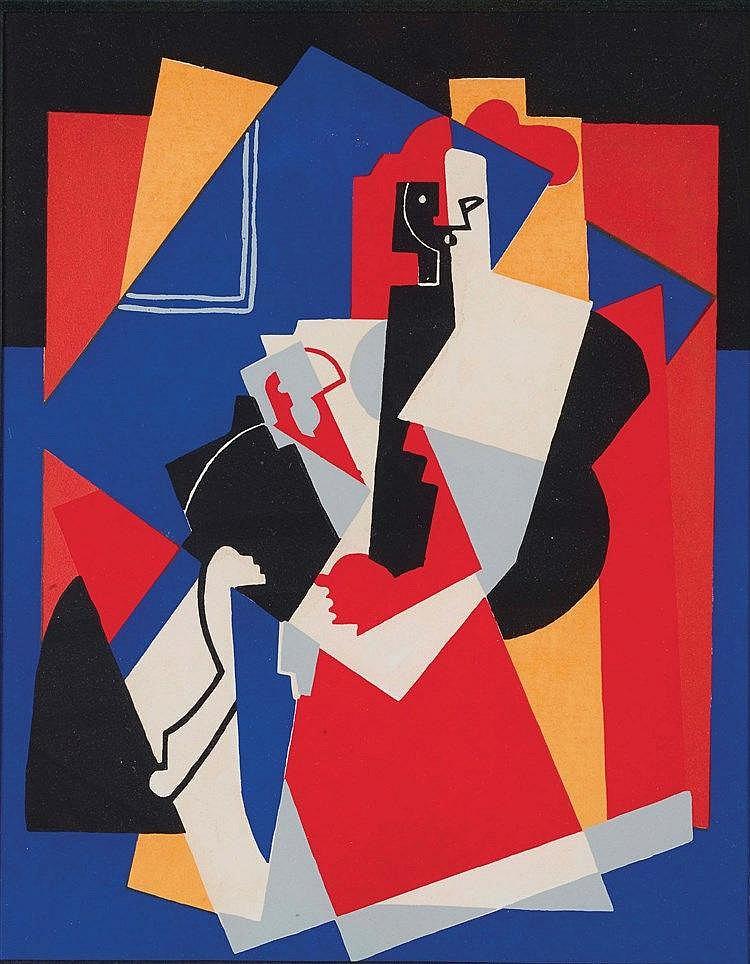 ALBERT GLEIZES (1881-1953) COMPOSITION AUX DEUX FIGURES  PLANES, 1927-