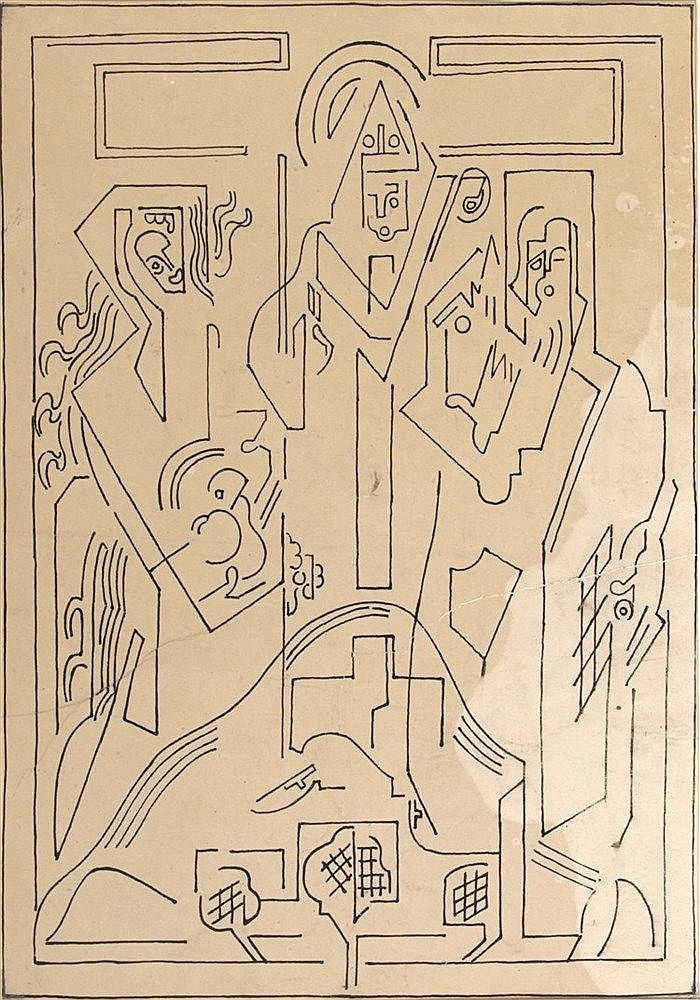 ALBERT GLEIZES (1881-1953)  SANS TITRE OU EVEQUE BENISSANT,  VERS 1940