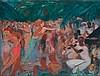 JEAN-GABRIEL DOMERGUE (1889-1962)  L'ORCHESTRE DE JAZZ, 1938  Paravent