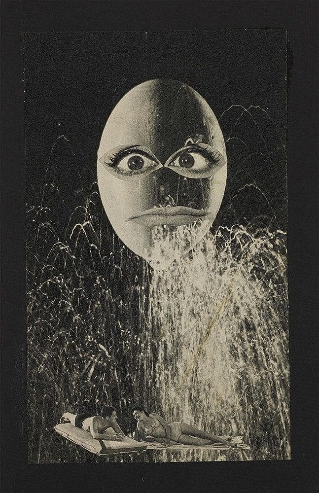GEORGES HUGNET (1906-1974) TETE D'OEUF, 1961 Collage de photographie