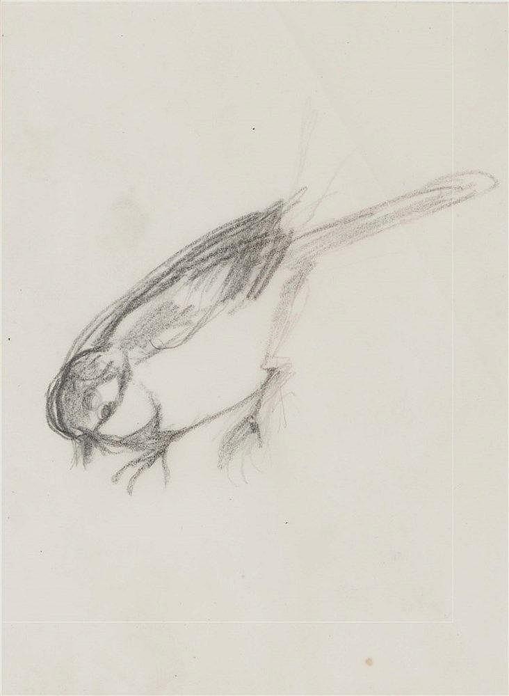 LEONARD TSUGUHARU FOUJITA (1886-1968) MOINEAUX Ensemble de deux dessin