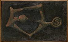 IVAN TOVAR (1942) FEMME Huile sur toile (double-face) 38 x 62 cm - 14.