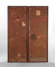 PARAVENT DE LOUIS MARCOUSSIS (1883-1941)  Paravent à deux feuilles, co