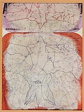 LADISLAS NOVAK (1925-1999) CHAUVE-SOURIS Encre sur papier journal impr