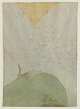 LADISLAS NOVAK (1925-1999) PAYSAGE Encres sur papier  Annoté en bas à