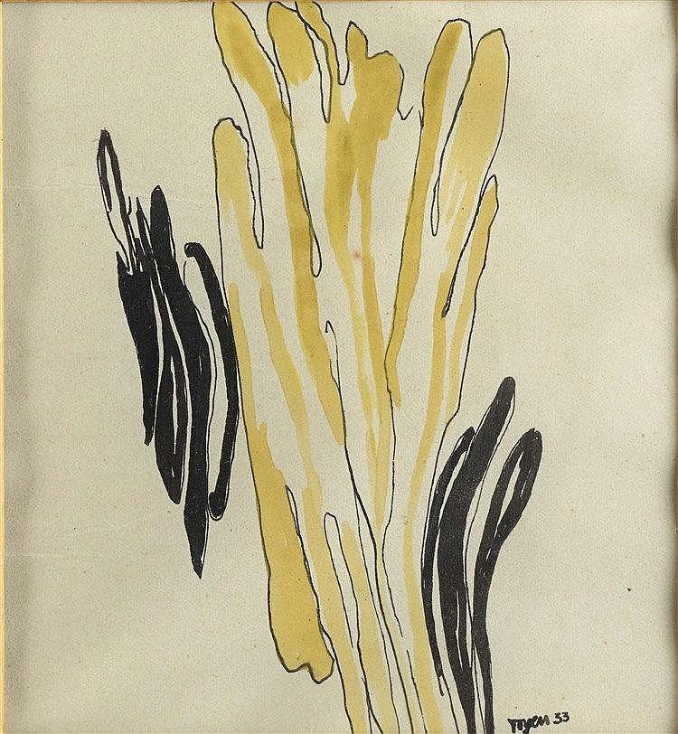 MARIE CERMINOVA TOYEN (1902-1980)  FORMES MARINES, 1933  Ensemble de d