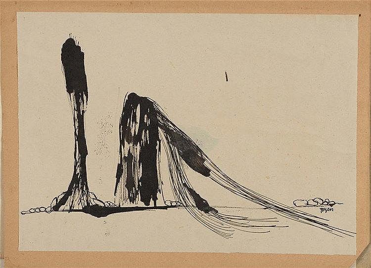 MARIE CERMINOVA TOYEN (1902-1980) COMPOSITION SURREALISTE II Encre de