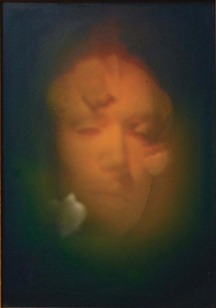 GERARD DI-MACCIO (1938) VISAGE Holographie 41 x 31 cm - 16 x 12 in.  H
