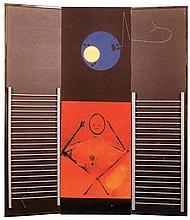 MAX ERNST (1891-1976)  LE GRAND IGNORANT, 1974   Paravent en bois pein