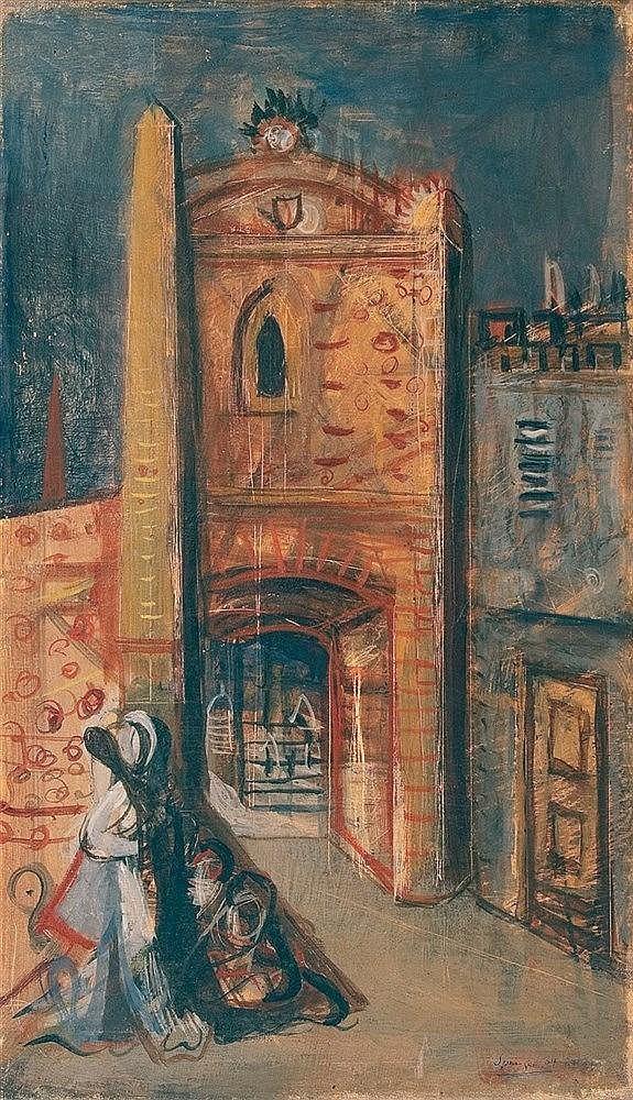 FERDINAND SPRINGER (1907-1998)  LA PORTE, 1934  Série du banquet de pl