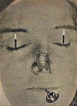 GEORGES HUGNET (1906-1974)  LA TROMPETTE, 1961  Collage de photographi