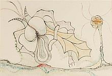 JORGE CAMACHO (1934-2011)  COMPOSITION SURREALISTE, 1970  Encre et cra