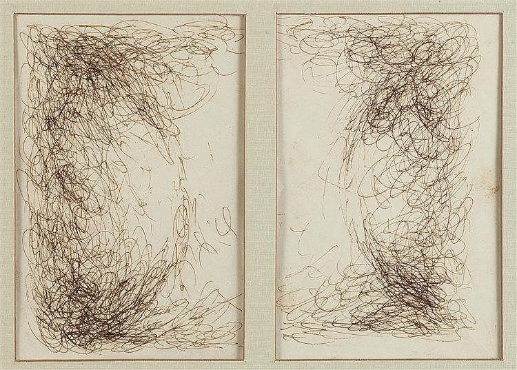 JOSEPH SIMA (1891-1971) COMPOSITION Encre brune sur papier  18,6 x 27