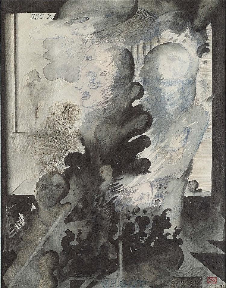 LJUBA (1934-2016) (LJUBOMIR POPOVIC DIT)  GRBOT, 1972   Encres, encre