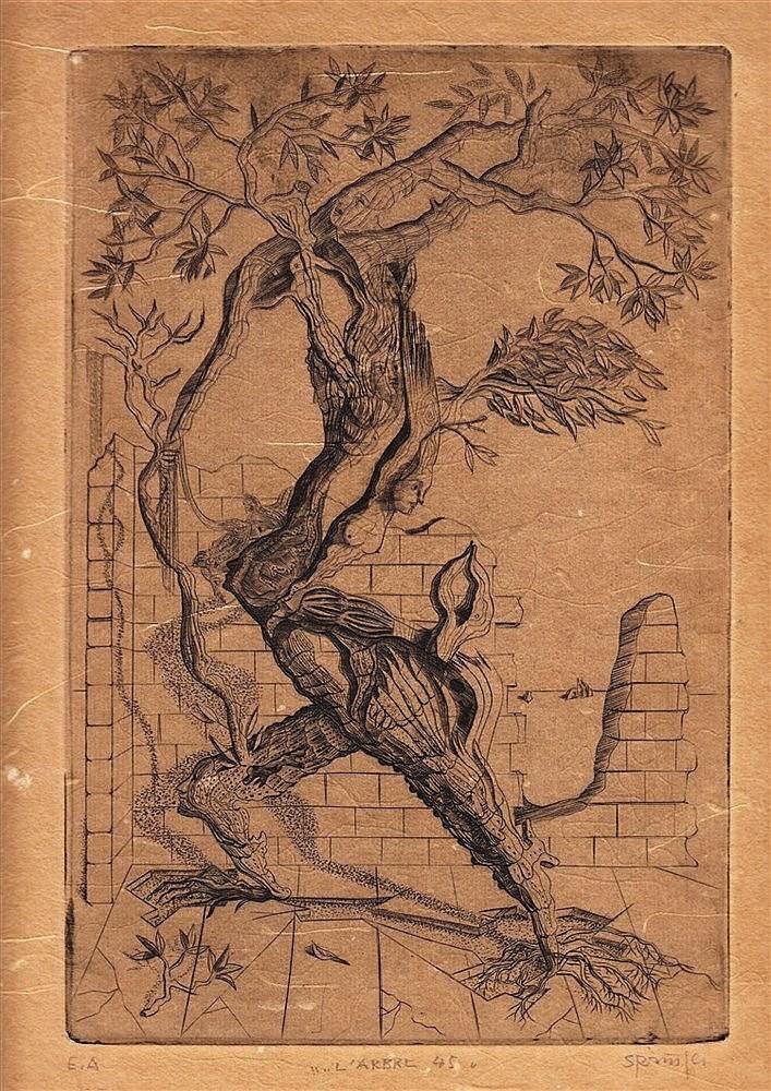 FERDINAND SPRINGER (1907-1998)  ARBRE-HOMME, 1945  Epreuve d'artiste i