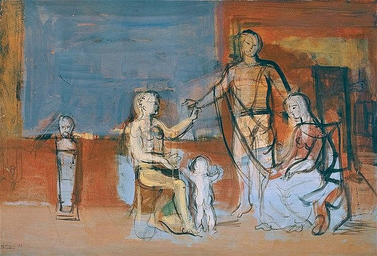 FERDINAND SPRINGER (1907-1998)  HEKTOR'S ABSCHIED, 1934  Série du banq