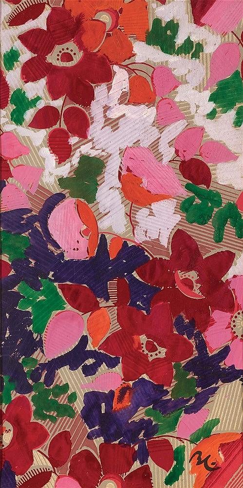 BORIS LACROIX (1902-1984) PROJET DE TISSUS POUR MADELEINE VIONNET Goua