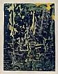 FRANCOIS DUFRENE (1930-1982) - LA FORET BLEUE,, François Dufrêne, Click for value