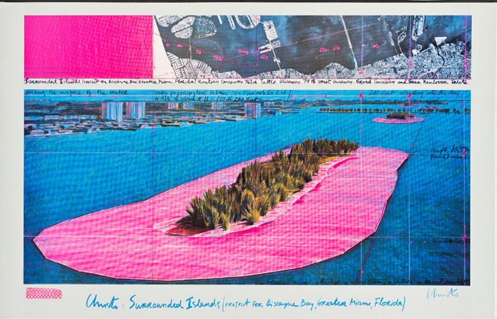 CHRISTO (1935-2020) - SURROUNDED ISLANDS, PROJECT FOR BISCAYNE BAY, FLORIDA, 1982