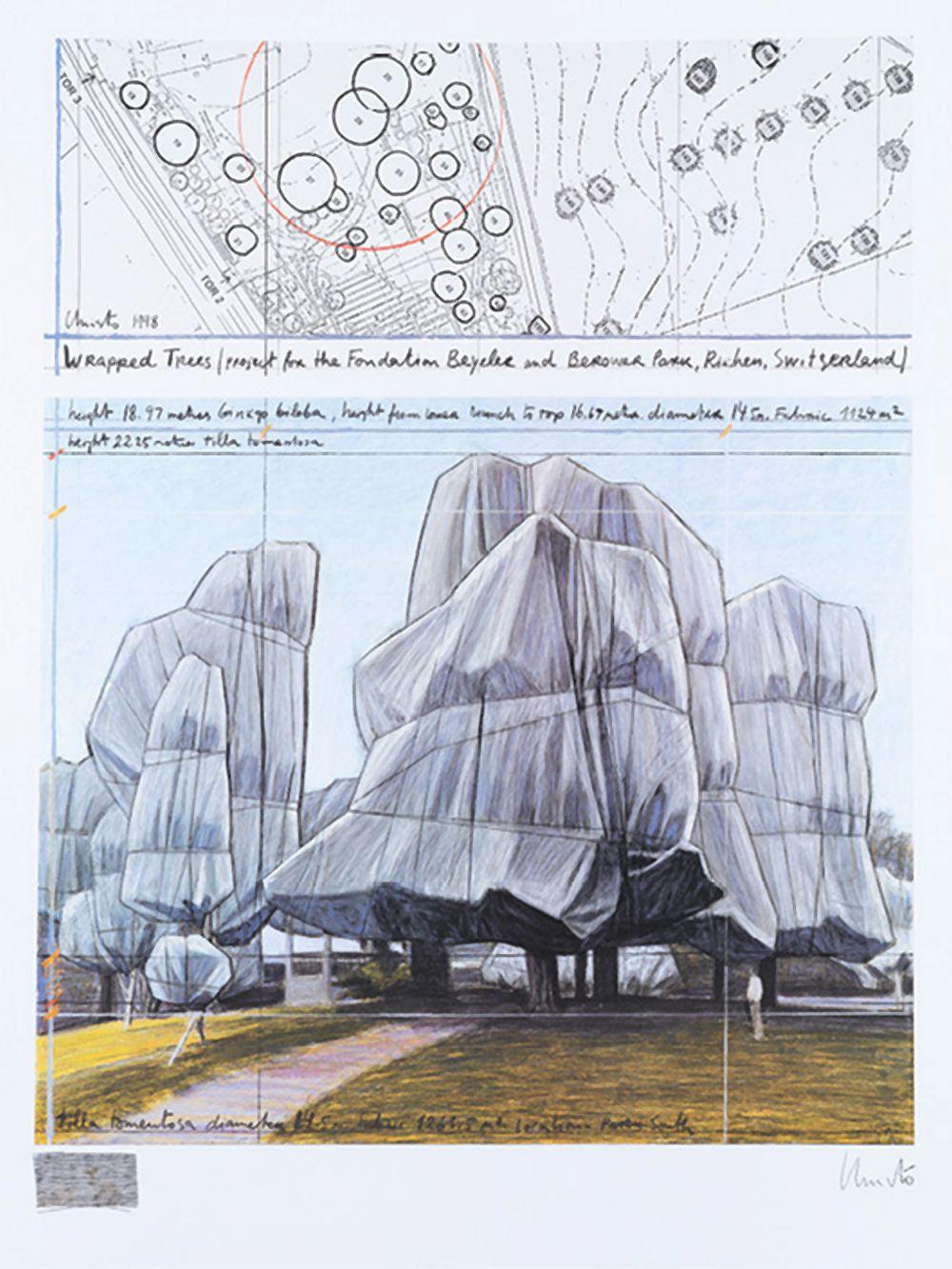 CHRISTO (1935-2020) - WRAPPED TREES, PROJECT FOR THE FONDATION BEYELER AND BEROWER PARK, 1998