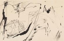 ENGLEBERT VAN ANDERLECHT (1918-1961) Sans titre (n°385), 1959. Encre sur papier.
